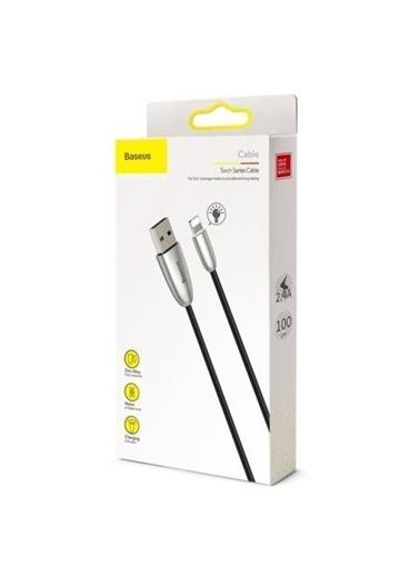 Baseus Torch Series Çinko Iphone Led Işıklı Şarj Kablosu-Siyah-Calhj-D01 Renkli